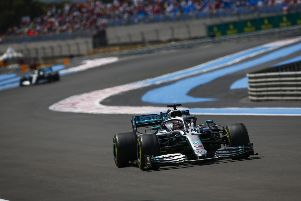 Lewis Hamilton on his way to victory in Sunday's French Grand Prix. Photo: LAT Images