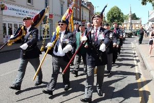Royal British Legion veterans marched in the Armed Forces Day parade in Banbury last year NNL-180107-161828009