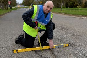 Mark Morrell, Mr. Pothole, in Banbury. Bankside. NNL-180417-160345009