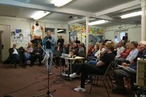 Concerned residents meet in Chipping Norton to discuss how to combat global heating and the climate crisis. Photo: Transition Chipping Norton NNL-190307-131703001