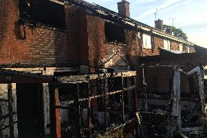 The gutted Mascord Road, Banbury house