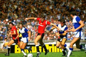 Norman Whitehouse in his glory with Man Utd. Picture by Getty Images