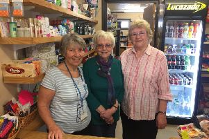 Horton League of Friends volunteers Betty Tolmie, Sue Girling, and Sheila Hearn