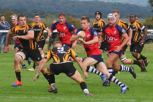 Duncan Leese goes on the attack for Banbury Bulls at Marlborough. Photo: Simon Grieve