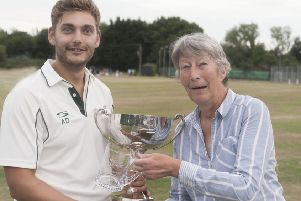 Heritage Cup 2017 winning Southill captain George Darlow. Picture: Derrick Stock. PNL-171207-102724002