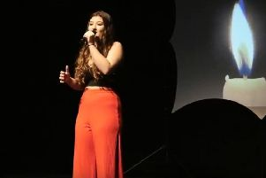 Leyla Tuncay performing Adele on stage Photo credit -Teen Star video still PNL-180805-160421001