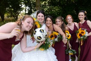 Three lions and five bridesmaids