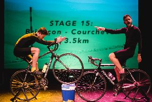 The show relives the legendary clash between Lance Armstrong and Marco Pantani