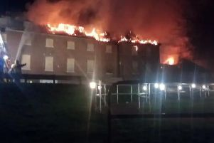 Firefighters worked through the night to bring the blaze under control