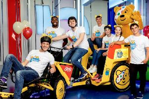 Children In Need's rickshaw team