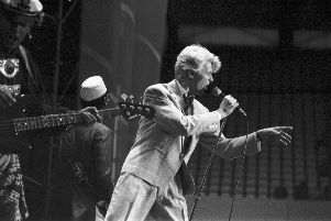 The legend David Bowie in action