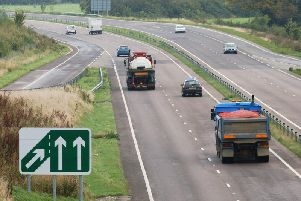 The crash was on the A41 on Saturday