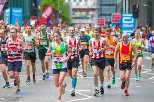 Thousands of runners are taking on the London Marathon on Sunday