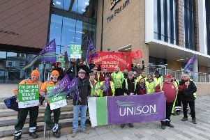 Unison and Unite members will protest again outside The Forum tonight