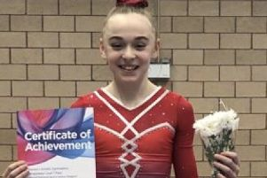 Sophie O'Flaherty with her Compulsory One certificate.