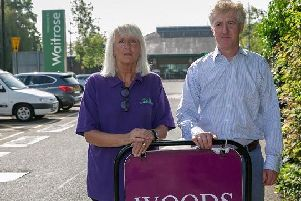 Woods of Berkhamsted managing director Colin Campbell-Preston, and'manager Sarah Webb