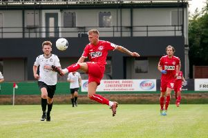 Hemel Town hit a late winner to take maximum points against Bath City today. (File picture by Ben Fullylove).