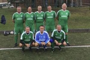 Hemel Hempstead Town's over-50s walking football side.