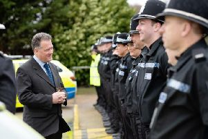 Mr Lloyd with new police officers