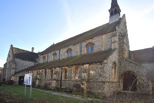 5/3/14- St Barnabas Church, Bexhill- need to raise funds to repair erosion of the stone window openings SUS-140503-132646001