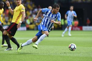 Tomer Hemed in action against Watford at Vicarage Road. Picture by PW Sporting Pics