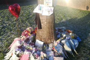 Floral tributes to the victim of a stabbing in St Leonards SUS-171126-095821001