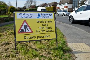 The roadworks were initially supposed to finish in September