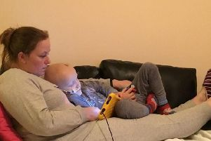 Four-year-old Jack with mum Katie