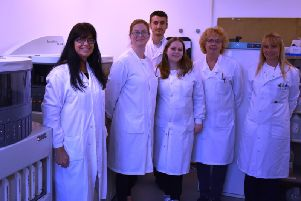 The Conquest Hospital pathology department with their new equipment