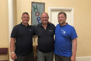 L-R: Steven, Alan and Marcus during their visit to Hope Kitchen