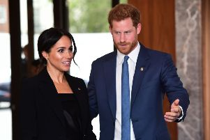 The Duke and Duchess of Sussex arriving for the annual WellChild Awards at the Royal Lancaster Hotel in London. PRESS ASSOCIATION Photo. Picture date: Tuesday September 4, 2018. See PA story ROYAL WellChild. Photo credit should read: Victoria Jones/PA Wire YPN-180409-171822060