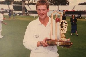 Alex Halliday with the National Cup at Lord's in 1997