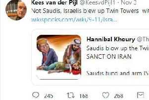 The tweet by Kees Van der Pijl (Credit: Twitter)