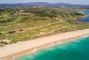 Four holes on the Praia course are located between the train track and the beach