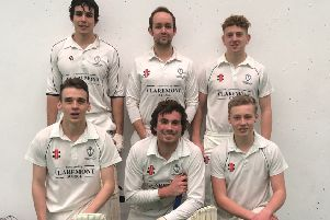 The Crowhurst Park team which won the East Area Cricket Association Indoor Cup