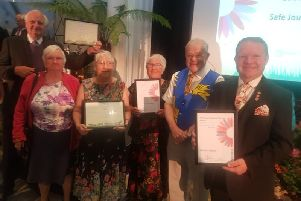 The Bexhill in Bloom committee at the South and South East in Bloom 2018 awards