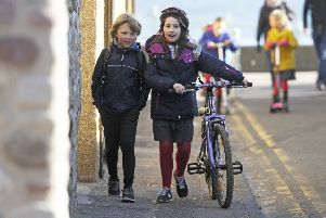 Youngsters taking part in The Big Pedal 2018 SUS-190123-135721001
