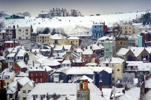 Hastings in the snow