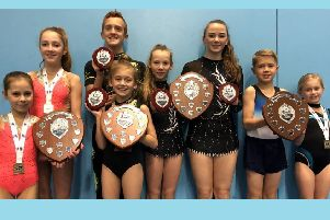 The Hollington Gymnastics Club acrobats who all became South East regional champions