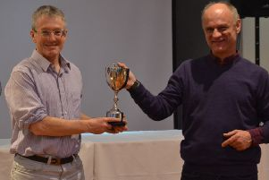 Martin Noakes receives the cross-country award
