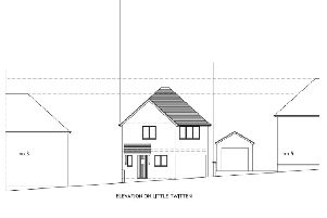 Proposed new home in Little Twitten, Bexhill