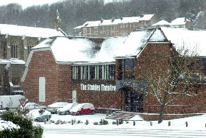 Snow photos, Hastings. 9/1/10'Stables Theatre