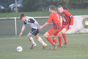Sammy Bunn on the ball during Bexhill United's last home game, against Worthing United, three weeks ago. Picture by Simon Newstead