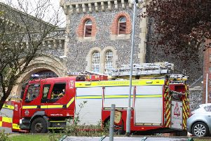 A stock image of fire engines outside Lewes Prison last year