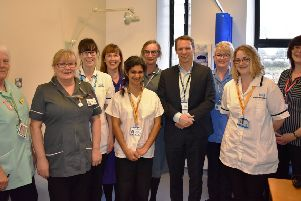 Doctors, nurses and podiatrists from the multidisciplinary diabetic foot clinic