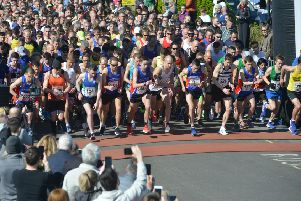 Runners set off at the start of the 2019 Hastings Half Marathon