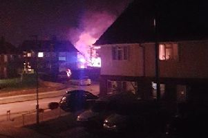 Manning Road fire