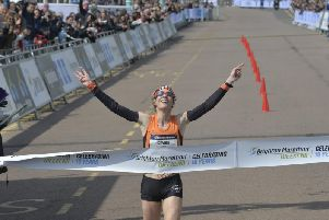 Helen Davies won the women's race for the third year running (Photograph: Jon Rigby)