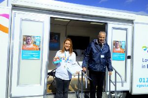Age UK East Sussex's mobile information and advice resource centre vehicle. SUS-190424-151324001
