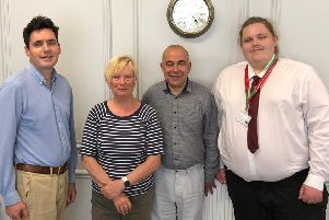 Labour councillors Christine Bayliss, Paul Courtel and Sam Coleman met with Bexhill and Battle MP Huw Merriman. Picture supplied by Sam Coleman